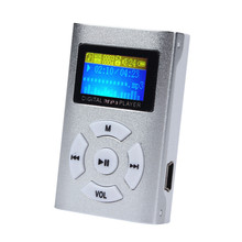 Hot Sale USB Mini Sport MP3 Player LCD Screen Portable mp3-player Support 32GB Micro SD TF Card #OR300