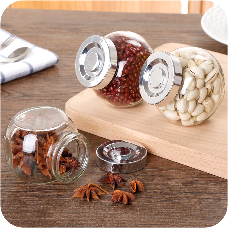 Glass Sealed Cans Food Storage Jar Spice Teas Beans Candy Cereals Preservation Bottle Storage Tool Kitchen Tools Hot Sale(China (Mainland))