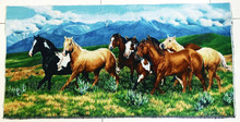 Beautiful and fabric material Decor picture running horses art pictures for home Dec Wall hanging Ar pictures Gobelin tapestry(China)