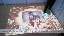 Interactive floor system for for Digital signage,You can change your own logo, picture, video, audio