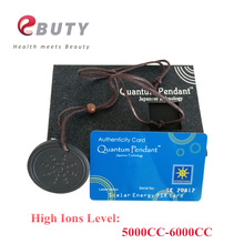 High Ions 5000-6000CC Lava Pendants Scalar Energy Charms Black with Rope Necklace Health With Card & Box In Stock