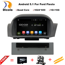 Quad Core Android 5.1 Car DVD GPS For Ford Fiesta 2012 2013 2014 2015 2016 with Radio Navigation Multimedia Support DTV DAB+