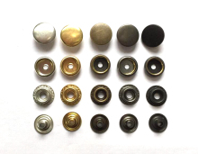 Metal snap. fastener metal buttons Rivet clasp brass Snap fastener snap button down jacket buttons 12/15/17/20mm(China)