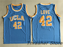New Kevin Love #42 UCLA Bruins Basketball Jersey Camisa Embroidery Logos