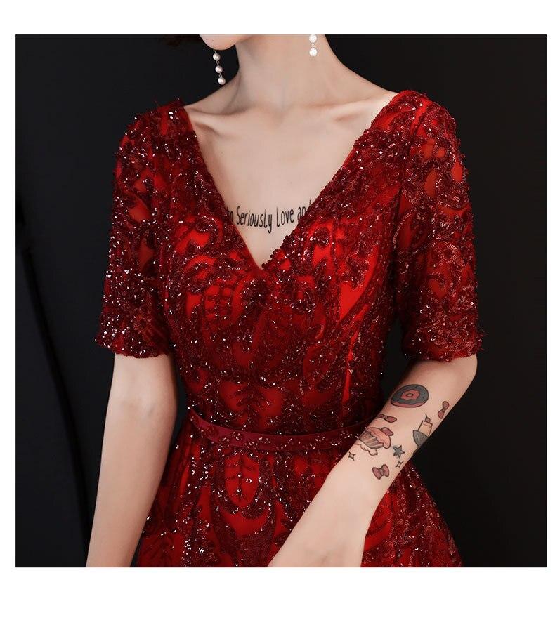 Demi D'été Acheter De Elegant Soirée Femmes Manches Robe Mode V xCodBe