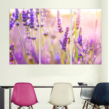 Modern Canvas Painting on Canvas Flower Purple Lavender Oil Painting Beautiful Provence Scenery Picture Poster Home Decoration