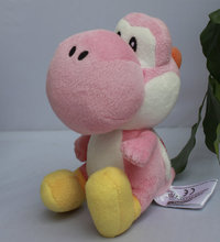 "IN HAND NEW Original Cartoon Games Super Mario Bros. Party 8 Series Plush  Yoshi  PINK 6.5"" 16cm Stuffed animal"