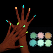 luminous nail polish High brightness luminous powder Phosphor fluorescent paint phototherapy general 10colors crystal armour GYH