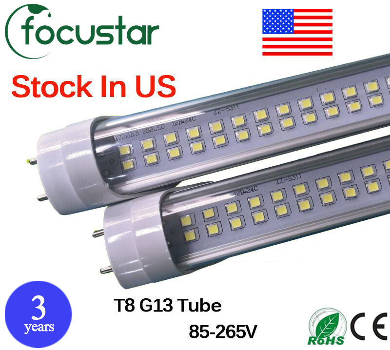 25pcs 60W Double Row T8 G13 base Led Tube 8ft SMD 2835 85-265V led fluorescent Lighting led tube lamp light free shipping<br><br>Aliexpress