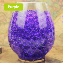 HOT 1000pcs Purple Water Plant Flower Jelly Crystal Soil Mud Water Pearls Gel Beads Balls Beads Decoration Vase DN639-4