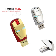 2017 HOT sale for avengers iron man LED pen drive usb flash drive 4gb 16gb 32gb 8gb pendrive 2.0 memory stisk 16gb USB hard disk