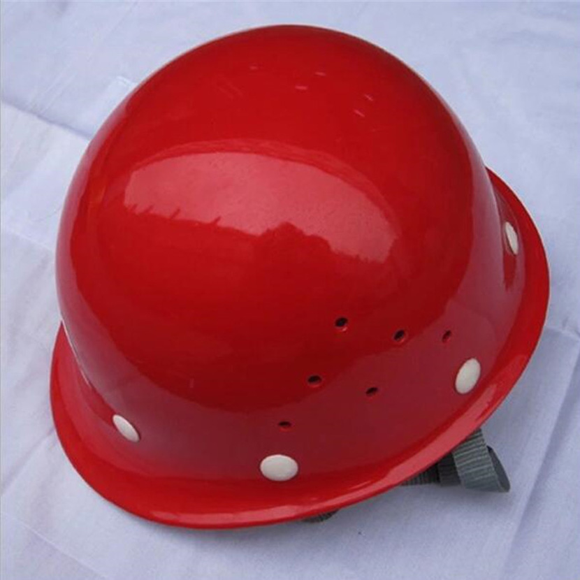 Round fiberglass helmets Construction site Anti-drop caps Construction construction Lead<br>