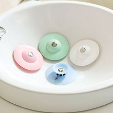 1X Home Kitchen Washroom Shower Sink Plug Water Rubber Sink Bathtub Stopper Home Decor