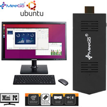 MeeGOPad T02 2GB/32GB Ubuntu 14.10 Linux Version Mini PC With Intel Z3735F Inside Wifi Bluetooth HDMI Tv Small Compute Stick