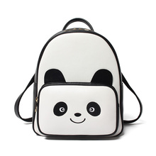 Lovely Children Backpacks Cartoon Character Panda Backpack PU Leather MINI Casual Daypacks Ladies Baby Bag BB0095(China)