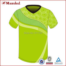 Light green sublimated V neck soccer jersey,Free shipping best quality football uniform,Thai football shirt,Cheap soccer uniform(China)