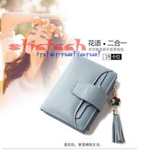 by dhl or ems 50pcs lady Purse Wallet Women Leather Fashion Moeny Bag(China)