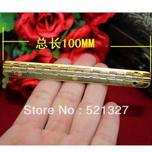 100 * 9MM imitation gold hinge  strip 90 degrees inside the wooden interior hinge  support