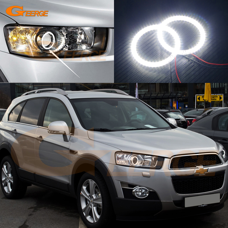 For Chevrolet Captiva 2012 2013 2014 2015 2016 Excellent led Angel Eyes Ultra bright smd led Angel Eyes Halo Ring kit<br>