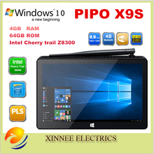 PIPO X9S Mini PC ,Intel Cherry trail Z8350 Quad Core Windows 10 OS 1920 * 1200 8.9 inch Touch Screen BT4.0 4G+64G Tablet