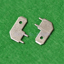 500pcs 6.3mm Welded Connectors Terminals Solder Pins PC Boards Welded Terminals Copper Material Posts(China)