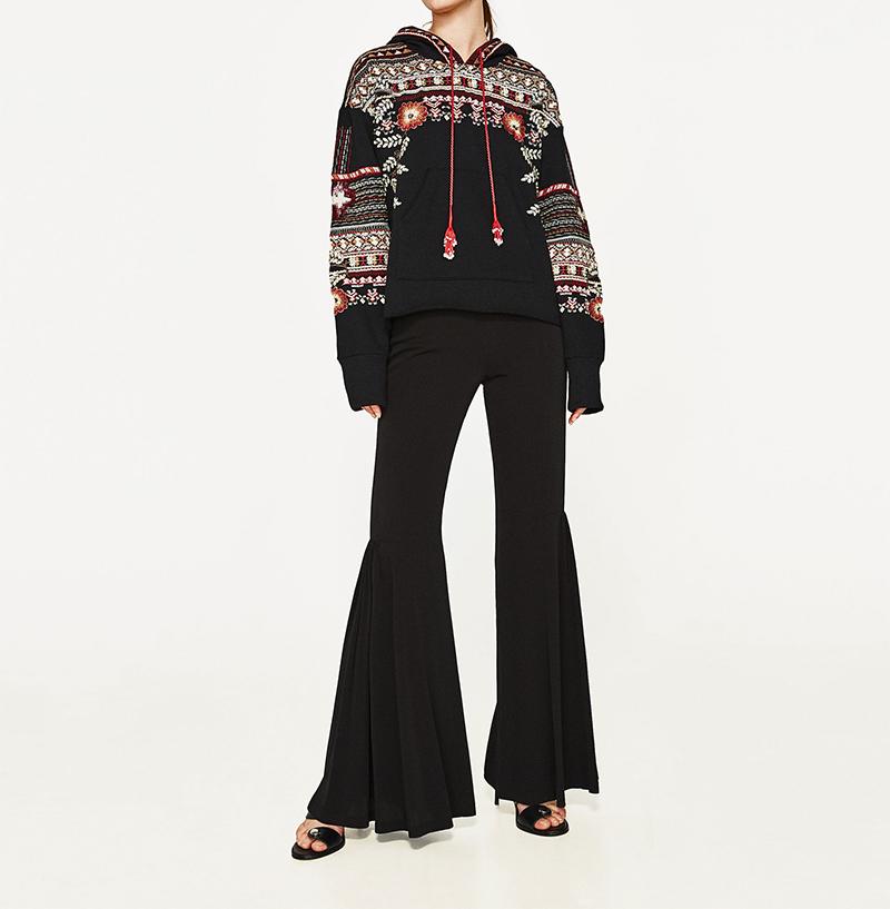 ShejoinSheenjoy Hooded Long Sleeve Loose Hoodies Women Fashion Black Vintage Floral Geometric Embroidery Sweatshirt Pullovers (6)
