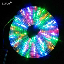 ZINUO 220V LED Strip Light Waterproof 20Leds/M With Plug 8 Mode Multicolor Copper Rainbow Tube LED Fairy Garden Light Outdoor(China)