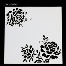 Flower Masking Spray Stencil For Walls Painting Embossing Paper Crafts Scrapbook Stamp DIY Tools Photo Album Card Free Shipping