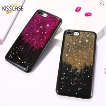 KISSCASE iPhone 7 Case iPhone 6 6S Cover Glitter Stars Soft TPU Silicon Phone Cases iPhone 7 6 6S Plus Fundas Coque