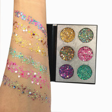 Beauty Glazed Glitter Injection Festival Glitter Makeup Pallete Shimmer Rainbow Diamond Face Body Eye Shadow Sequins Cosmetic(China)