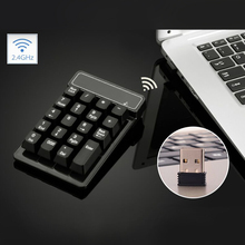 Numpad USB Wireless Numeric Keypad 19 Keys Number Pad Wireless 2.4GHz Mini Receiver for Windows XP 7/ 8 Laptop PC Computer(China)