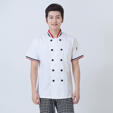 1 piece Unisex Chef Top Jackets,Food Cooking sushi Kitchen Work Wear ,Chef uniform stand collar(China)