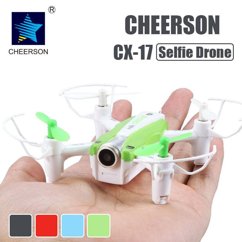 Cheerson CX-17 RC FPV quadrocopter With Camera Mini Selfie drone With Wide Angle Camera High Hold Mode Pointing Flight RC Dron
