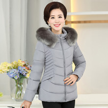 2017 HRM Middle-aged women's winter coat jacket mother 40-50 years old Middle-aged women thick padded jacket down(China)