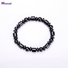 2017 New Hot sale Fashion Charm Black Magnetic Hematite Beads Bracelet for Men Women Healthy Bracelet Jewelry Accessories