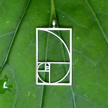 Drop shipping Fibonacci Golden ratio pendant Black /Silver plated necklaces & pendants jewelry accessories for women(China)