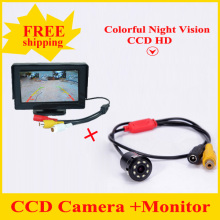 Promotion 4.3inch TFT LCD Car Rear View Reverse Monitor  + 8 LED  Camera 4.3inch Free Shipping Hot Selling