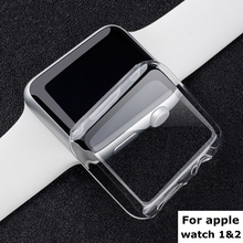 Clear crystal ultra thin hard plastic case transparent screen protective PC cover for iphone Apple watch series 1 2 38mm 42mm