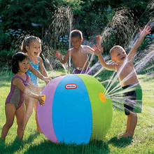 PVC 60/75CM Inflatable Spray Water Ball Children's Summer Outdoor Swimming Beach Pool Play The Lawn Balls Playing Smash It Toys