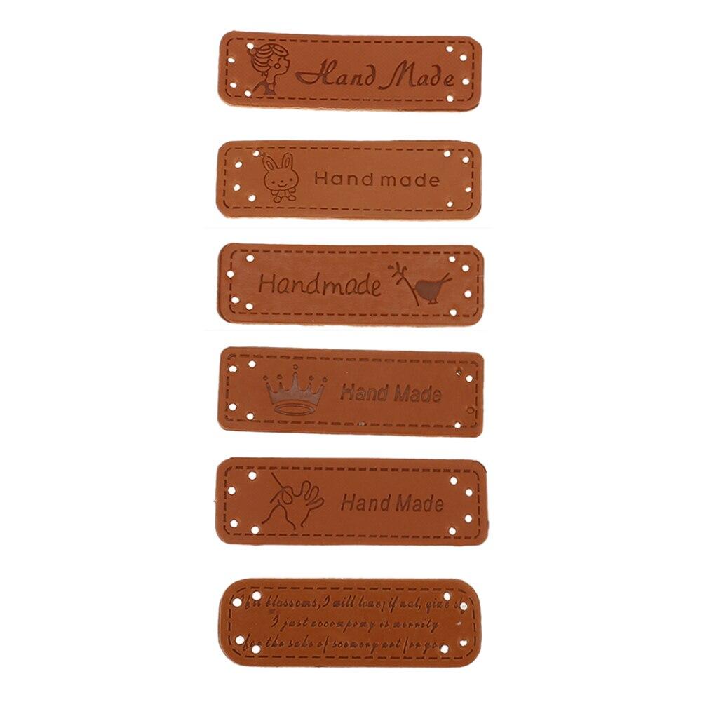 24St PU-Leder Etiketten Tags DIY Jeans Taschen Schuhe Bastel Label Nähen Zubehör