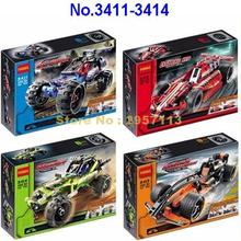 Decool 3411-3414 High Technic 2 In 1 Warrior Off-roader Racer Sport Car Building Block Brick Toy(China)