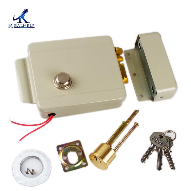 Cerradura el/éctrica de Seguridad Universal El/éctrico de Control de Acceso para Timbre intercomunicador de Sistema de Seguridad de Control de Acceso