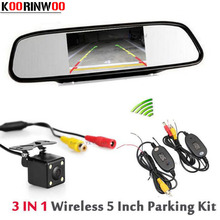 Genuine KOORINWOO 2.4G Wireless 5'' LCD TFT Car Mirror Monitor Video Car Rear View Camera Back up Reverse Cam Parking System