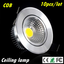 10pcs Super Bright Dimmable Led downlight light COB Ceiling Spot Light 3w 5w 7w 12w ceiling recessed Lights Indoor Lighting