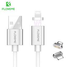 FLOVEME Magnetic Cable For Apple iPhone 7 Plus iPhone 6 6S Plus 5 5S SE Lighting USB Charging Cable For iPad pro Magnet Charger