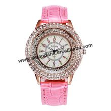 Gogoey 051 New European and American Quicksand Watches Fashion Woman Full Beads Watches Personality Casual Leather Wrist watch(China)