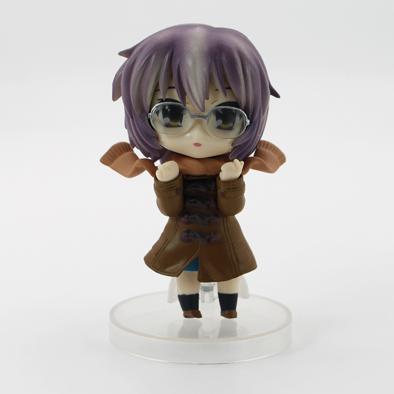 Haruhi Suzumiya Nagato Yuki Action Figure Mix Face Toy Brinquedos Collectible Model Toy Kid Gift<br>