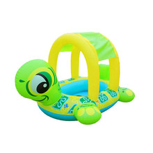 2018 Summer Fashion New Arrival Sunshade Baby Infant Children Float Seat Car Flamingo Boat Inflatable Swim Pool Floating Ring(China)