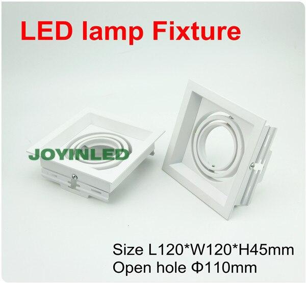 5pcs white square led lamp fixture GU10/MR16 Bulb spot fitting<br><br>Aliexpress