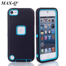 Heavy Duty Phone Case For apple ipod Touch 5 5th Generation Dual Layer TPU & Hard Plastic Armor Hybrid Cover Shock Proof Case